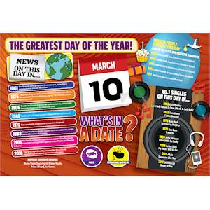 WHAT'S IN A DATE 10th MARCH STANDARD 400 PIECE