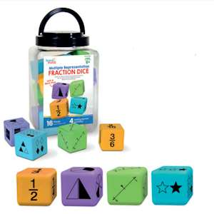FRACTION DICE (GIANT MATHS DICE)