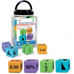 EQUIVALENCY DICE (GIANT MATHS DICE)