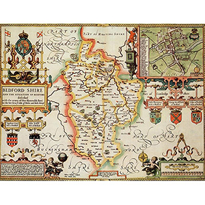 HISTORICAL MAP BEDFORDSHIRE (M4JHIST400)