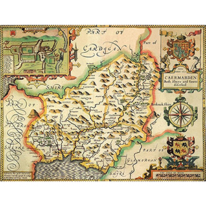 HISTORICAL MAP CARMARTHENSHIRE (M4JHIST400)