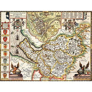HISTORICAL MAP CHESHIRE (M4JHIST400)
