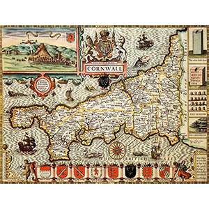 HISTORICAL MAP CORNWALL (M4JHIST400)