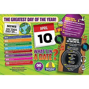 WHAT'S IN A DATE 10th APRIL STANDARD 400 PIECE