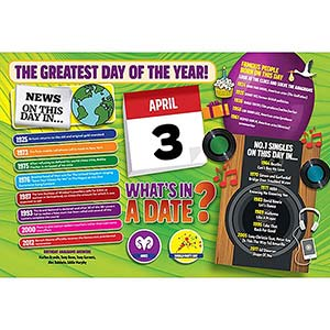 WHAT'S IN A DATE 3rd APRIL STANDARD 400 PIECE