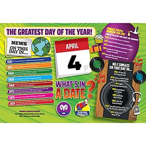 WHAT'S IN A DATE 4th APRIL STANDARD 400 PIECE