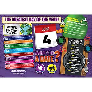 WHAT'S IN A DATE 4th JUNE PERSONALISED 400 PIECE