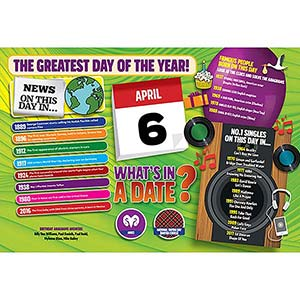 WHAT'S IN A DATE 6th APRIL STANDARD 400 PIECE