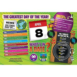 WHAT'S IN A DATE 8th APRIL STANDARD 400 PIECE