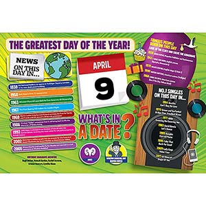 WHAT'S IN A DATE 9th APRIL STANDARD 400 PIECE