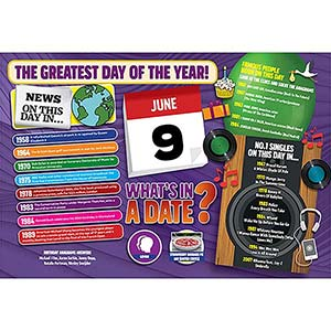 WHAT'S IN A DATE 9th JUNE STANDARD 400 PIECE